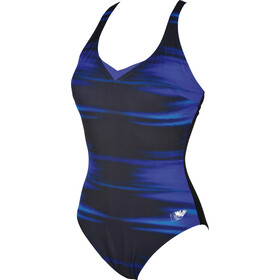 arena Kate Light Cross Back C-Cup Traje de baño de una pieza Mujer, bright blue-black